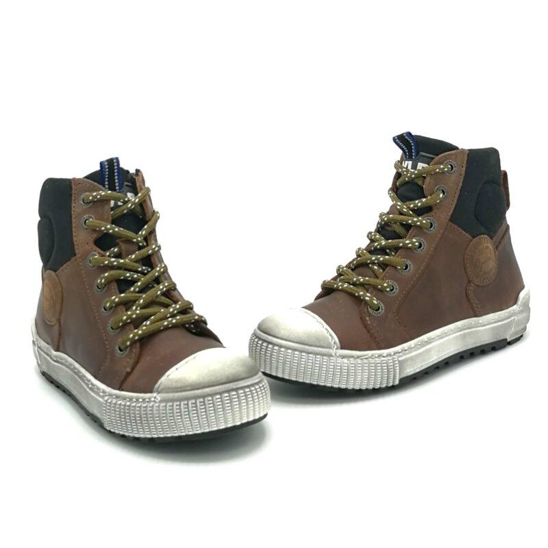Develab veterschoen jongens sneaker bruin