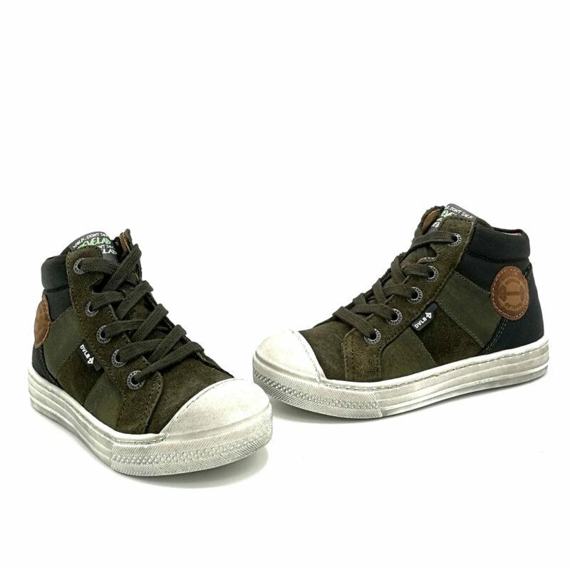 Develab veterschoen jongens sneaker groen