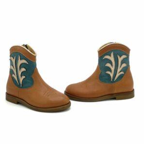 Ocra meisjesschoenen cowboylaars bruin