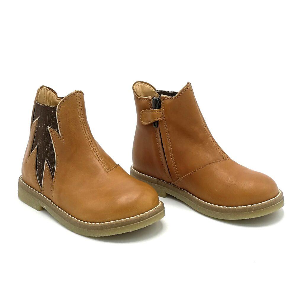 Ocra meisjesschoenen enkellaars bruin