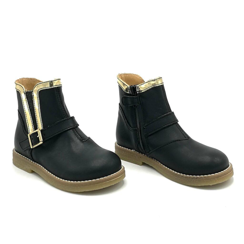 Ocra meisjesschoenen enkellaars zwart